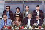 Tennis legend Ion Tiriac, Infanta Elena of Spain, King Juan Carlos I of Spain and the Minister of Culture and Sports of Spain Inigo Méndez de Vigo during Madrid Open Tennis 2016 match.May, 3, 2016.(ALTERPHOTOS/Acero)