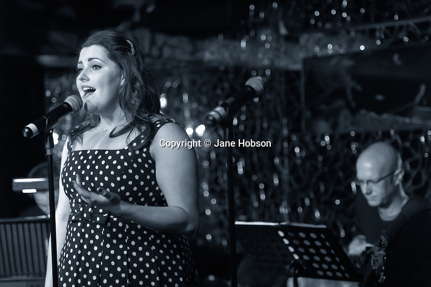London, UK. 8.4.12. Chloe Hart & Co in Cabaret, a benefit for The Roy Castle Lung Cancer Foundation, at the Freedom Bar, Soho. Mandatory photo credit: © Jane Hobson