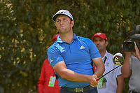 Jon Rahm (ESP) watches his tee shot on 12 during round 2 of the World Golf Championships, Mexico, Club De Golf Chapultepec, Mexico City, Mexico. 2/22/2019.<br /> Picture: Golffile | Ken Murray<br /> <br /> <br /> All photo usage must carry mandatory copyright credit (&copy; Golffile | Ken Murray)