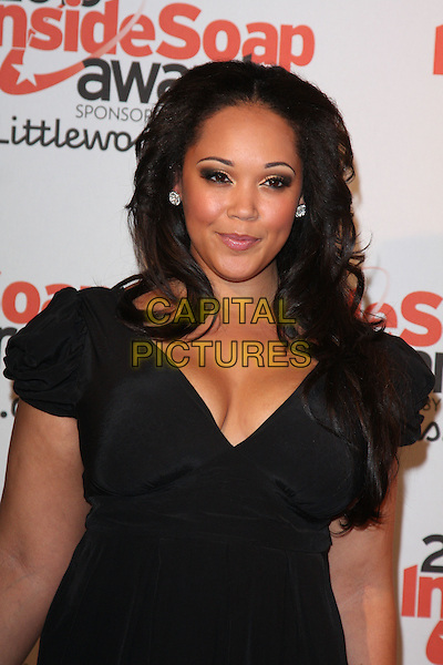 DONNALEIGH BAILEY .Attending the Inside Soap Awards 2010 held at Shaka Zulu, Camden, London, England, UK, September 27th 2010.arrivals half length black cleavage dress .CAP/ROS.©Steve Ross/Capital Pictures