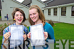 Student from Presentation Secondary, Tralee, Aisling Moriarty who got 12 A's and Cara Kennedy who got 11 A' s in the Junior Cert on Wednesday.