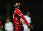 Raheem Sterling of Liverpool reacts after a missed chance to score - FA Cup Fourth Round replay - Bolton Wanderers vs Liverpool - Macron Stadium  - Bolton - England - 4th February 2015 - Picture Simon Bellis/Sportimage