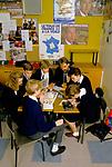 Comprehensive Secondary School 1990s UK. Schoolgirls pupils  preparing for GCSE French language exams Sheffield Yorkshire 1990.