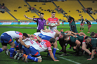 Action from the Heartland Championship preseason rugby match between Horowhenua Kapiti and Wairarapa Bush at Westpac Stadium in Wellington, New Zealand on Saturday, 5 May 2018. Photo: Dave Lintott / lintottphoto.co.nz