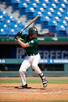 Jorge De Goti (3) of Belen Jesuit Preparatory School in Miami, FL during the Perfect Game National Showcase at Hoover Metropolitan Stadium on June 19, 2020 in Hoover, Alabama. (Mike Janes/Four Seam Images)