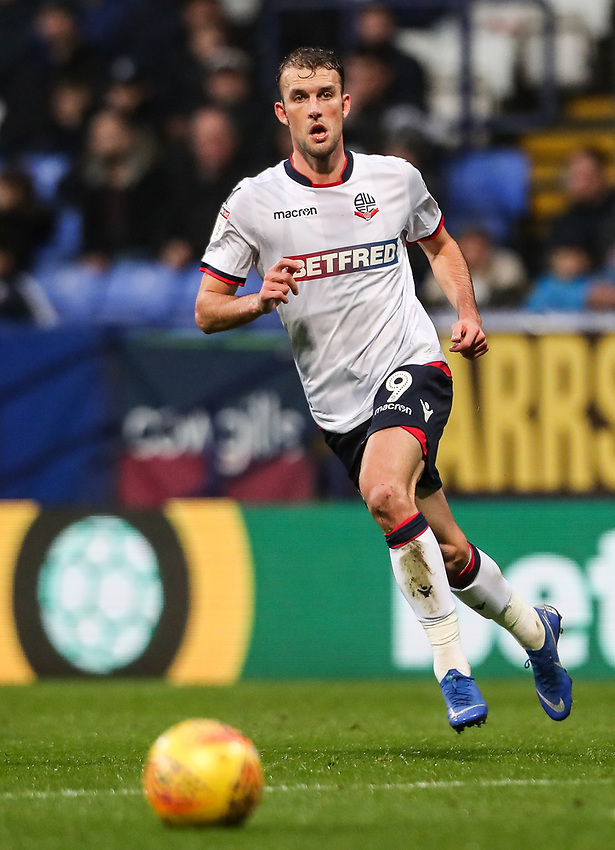 Bolton Wanderers' Christian Doidge <br /> <br /> Photographer Andrew Kearns/CameraSport<br /> <br /> The EFL Sky Bet Championship - Bolton Wanderers v Wigan Athletic - Saturday 1st December 2018 - University of Bolton Stadium - Bolton<br /> <br /> World Copyright © 2018 CameraSport. All rights reserved. 43 Linden Ave. Countesthorpe. Leicester. England. LE8 5PG - Tel: +44 (0) 116 277 4147 - admin@camerasport.com - www.camerasport.com