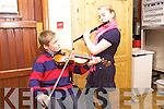 Family Affair: Brosna duo Darragh and Suzanne Curtin prepare back stage for St. Kieran's Got Talent, last Sunday night in Scartaglen
