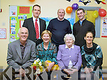 Retirement - Marion Murphy retired as Principal of Coars National School on Friday last pictured here front l-r John Murphy, Marion Murphy, Ro?isi?n Keogh, Karen Devane, back l-r; Michael O'Sullivan(New Principal Coars N.S.), James Michael O'Sullivan & Fr Niall Howard.  Marion joined Coars N.S. in 1994 having moved from Tralee where she had taught for many years.  Her gentle, caring & supportive leadership style was acknowledged by all who know her.