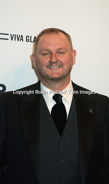 Kevin Frost attends the amfAR New York Gala to kick off Fashion Week on February 6, 2013 at Cipriani Wall Streetin New York City. The honorees were Heidi Klum, Janet Jackson  and Kenneth Cole.