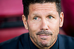 Coach Diego Simeone of Atletico de Madrid prior to the 2016-17 UEFA Champions League Quarter-Finals 1st leg match between Atletico de Madrid and Leicester City at the Estadio Vicente Calderon on 12 April 2017 in Madrid, Spain. Photo by Diego Gonzalez Souto / Power Sport Images