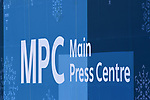 The MPC sinage. Views from around the Main Press Centre (MPC). Pyeongchang2018 winter Olympics. Main Press Centre. Alpensia. Pyeongchang. Republic of Korea. 08/02/2018. ~ MANDATORY CREDIT Garry Bowden/SIPPA - NO UNAUTHORISED USE - +44 7837 394578