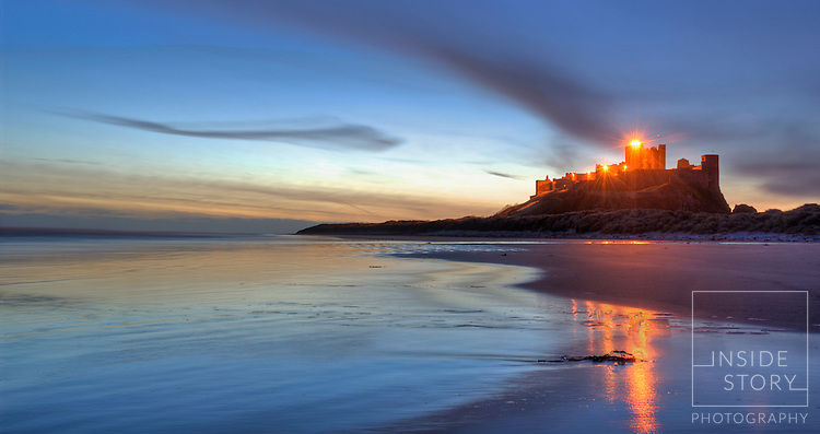 Bamburgh Castle at Dawn 1