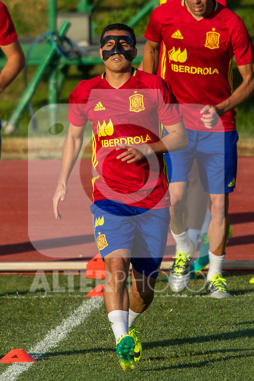 Spain's Pedro Rodriguez during the first training of the concentration of national soccer team before the Uefa Euro 2016.  Jun 4,2016. (ALTERPHOTOS/Rodrigo Jimenez)