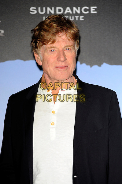 Robert Redford.Attends photocall to launch this years Sundance film festival, held at the Cineworld, O2, London, England..April 24th, 2013.headshot portrait half length black suit jacket white shirt.CAP/CJ.©Chris Joseph/Capital Pictures.