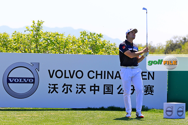 Ricardo Gouveia (POR) in action during the first round of the Volvo China Open played at Topwin Golf &amp; Country Club, Beijing, China 27-30 April 2017.<br /> 27/04/2017.<br /> Picture: Golffile | Phil Inglis<br /> <br /> <br /> All photo usage must carry mandatory copyright credit (&copy; Golffile | Phil Inglis)