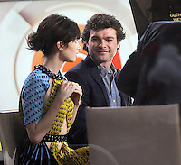 NEW YORK, NY November 15: Lily Collins, Alden Ehrenreich at Today Show to talk about new movie Rules Don't Apply  in New York City.November 15, 2016. Credit:RW/MediaPunch