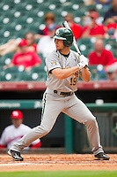 Logan Vick #19 of the Baylor Bears at bat against the Houston Cougars at Minute Maid Park on March 4, 2011 in Houston, Texas.  Photo by Brian Westerholt / Four Seam Images
