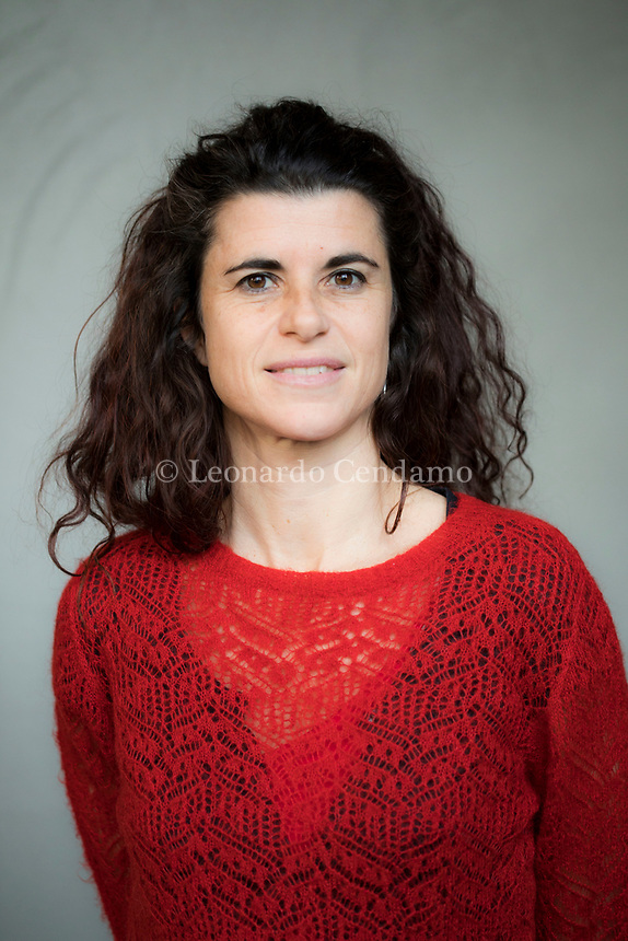 """Adriana Cicconi; é una scrittrice italiana; il sui primo libro """" Teresa degli oracoli """" Pubbl. per Feltrinelli. Erba 22 febbraio 2020. Photo Leonardo Cendamo"""