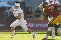 LOS ANGELES, CA -- September 19, 2015: Stanford defeats USC 41-31 at the LA Coliseum.