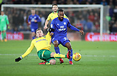 1st December 2017, Cardiff City Stadium, Cardiff, Wales; EFL Championship Football, Cardiff City versus Norwich City; James Maddison of Norwich City slide tackles Junior Hoilett of Cardiff City