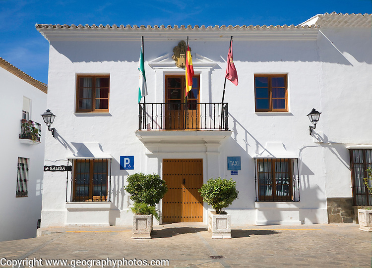 Town hall in village of Zahara de la Sierra, Cadiz province, Spain