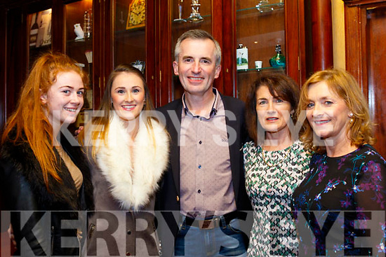 L-R Kayla O'Connor, Aisling Leonard, Denny&Mary Lyons with Paulette Leonard at  a special function for Lorraine Scanlon, last Saturday night in the RiverIsland hotel, Castleisland.