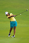 CHON BURI, THAILAND - FEBRUARY 17:  Julieta Granada of Paraguay plays a shoot on the 17th hole during day two of the LPGA Thailand at Siam Country Club on February 17, 2012 in Chon Buri, Thailand.  Photo by Victor Fraile / The Power of Sport Images