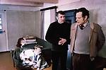 """Кадр из фильма """"Голова Тереона"""" (1982) Латвия; Режиссер: Варис Брасла; В ролях: Юрис Барткевичс, Анда Албуже, Янис Екабсонс, Мартыньш Вердыньш; / Filmstill """"Tereona galva""""; Latvia; Director: Varis Brasla; Stars: Juris Bartkevics, Anda Albuze, Janis Ekabsons, Martins Verdins."""
