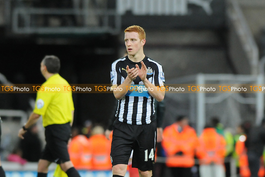 A dejected Jack Colback of Newcastle United at the final whistle - Newcastle United vs Sunderland AFC - Barclays Premier League Football at St James Park, Newcastle upon Tyne - 21/12/14 - MANDATORY CREDIT: Steven White/TGSPHOTO - Self billing applies where appropriate - contact@tgsphoto.co.uk - NO UNPAID USE