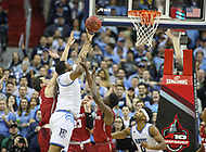 Washington, DC - March 10, 2018: Rhode Island Rams forward Andre Berry (34) shoots the ball during the Atlantic 10 semi final game between Saint Joseph's and Rhode Island at  Capital One Arena in Washington, DC.   (Photo by Elliott Brown/Media Images International)