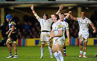 Mitch Lees of Exeter Chiefs celebrates at the final whistle. Aviva Premiership match, between Bath Rugby and Exeter Chiefs on December 31, 2016 at the Recreation Ground in Bath, England. Photo by: Patrick Khachfe / Onside Images