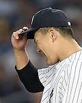 Masahiro Tanaka (Yankees), JUNE 9, 2015 - MLB : New York Yankees starting pitcher Masahiro Tanaka returns his side's bench during the third inning of a baseball game against the Washington Nationals at Yankee Stadium in New York, United States. (Photo by AFLO)