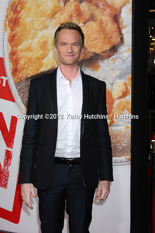 "LOS ANGELES - MAR 19:  Neil Patrick Harris arrives at the ""American Reunion"" Premiere at the Graumans Chinese Theater on March 19, 2012 in Los Angeles, CA"