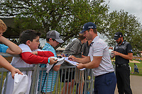 David Lingmerth (SWE) signs autographs for young fans following Round 3 of the Valero Texas Open, AT&amp;T Oaks Course, TPC San Antonio, San Antonio, Texas, USA. 4/21/2018.<br /> Picture: Golffile | Ken Murray<br /> <br /> <br /> All photo usage must carry mandatory copyright credit (&copy; Golffile | Ken Murray)