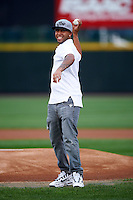 New York Yankees 2010 first round draft pick Cito Culver throws out a first pitch before game three of a best of five playoff series between the Empire State Yankees and Pawtucket Red Sox at Frontier Field on September 7, 2012 in Rochester, New York.  Empire State defeated Pawtucket 4-3 to send the series to game four as Pawtucket leads two games to one.  (Mike Janes/Four Seam Images)