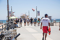 Huntington Beach Lifeguard on the Pier