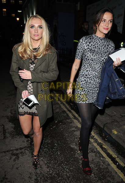 Tiffany Watson &amp; Lucy Watson attend the Lilah Parsons debut capsule collection for Yumi launch party, 15 Bateman Street, Bateman Street, London, UK, on Tuesday 01 December 2015.<br /> CAP/CAN<br /> &copy;Can Nguyen/Capital Pictures