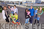 Residences of Cluainin estate, Listowel who are campaigning to have speed ramps installed and greater safety measures for children. L-  Ciara Griffin, Linda and Nadine Fitzpatrick, Nicola Halpin, Kara and Kayden Fitzgerald. R- Lucy and Louise O'Connor, Damien Halpin and Valerie and Trevin Chute.