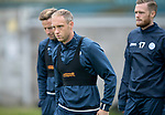 St Johnstone Training&hellip;07.09.17<br />Steven Anderson pictured with Steven MacLean and Denny Johnstone during training at McDiarmid Park ahead of the home game against Hibs<br />Picture by Graeme Hart.<br />Copyright Perthshire Picture Agency<br />Tel: 01738 623350  Mobile: 07990 594431