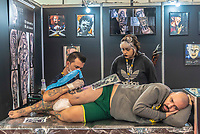 SÃO PAULO, SP, 19.10.2018 - TATTOO-WEEK - Público durante a Tattoo Week na São Paulo Expo no bairro da Água Funda, na região Sul da cidade de São Paulo nesta sexta-feira, 19. (Foto: Anderson Lira/Brazil Photo Press)