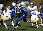 Carson's Ian Schulz runs against Reed during the NIAA D-1 Northern Regional title game at Bishop Manogue High School in Reno, Nev., on Saturday, Nov. 29, 2014. Reed won 28-25.<br /> Photo by Cathleen Allison