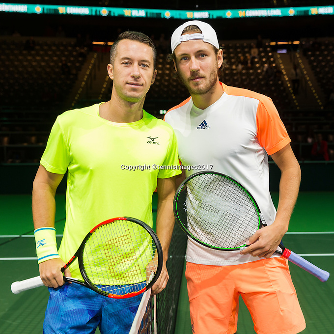ABN AMRO World Tennis Tournament, Rotterdam, The Netherlands, 14 februari, 2017, Philipp Kohlschreiber (GER), Lucas Pouille (FRA)<br /> Photo: Henk Koster