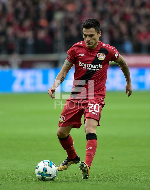Football : Germany -1. Bundesliga  2017/18 <br /> Bayer Leverkusen 04 vs Mainz <br /> 28/01/2018 - Charles Aranguiz (Bayer 04 Leverkusen) *** Local Caption *** &copy; pixathlon<br /> Contact: +49-40-22 63 02 60 , info@pixathlon.de