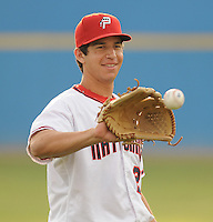 July 17, 2009: LHP Tom Milone (26) of the Potomac Nationals, Carolina League affiliate of the Washington Nationals, in a game against the Kinston Indians at G. Richard Pfitzner Stadium in Woodbridge, Va. Photo by: Tom Priddy/Four Seam Images