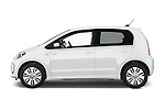 Car Driver side profile view of a 2014 Volkswagen up! e-up! 5 Door Hatchback 2WD Side View