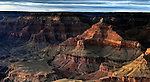 Yavapai sunset in the Grand Canyon National Park