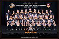 The Entrance Tigers pose for their 2015 Team Photo in the Arthur Lake Room at The Entrance Leagues Club in Bateau Bay, NSW Australia (Photo by Paul Barkley/LookPro)