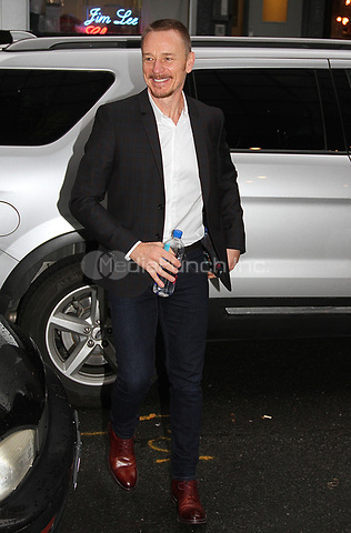 NEW YORK, NY - OCTOBER 9: British actor Ben Daniels  spotted arriving at 'Good Day New York'  in New York, New York on October 9, 2017.  Photo Credit: Rainmaker Photo/MediaPunch
