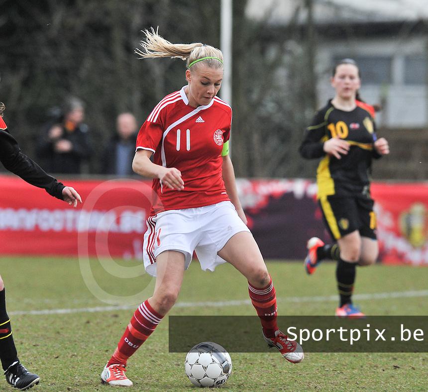 Denmark U17 - Belgium U17 : Stine Larsen (C).foto DAVID CATRY / Vrouwenteam.be