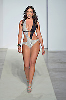 Wet Couture Swimwear by Angelina Petraglia Fashion Show Model, Nicole Mestres, at Funkshion Fashion Week Miami Beach 2012 at The Moore Building on March 16, 2012